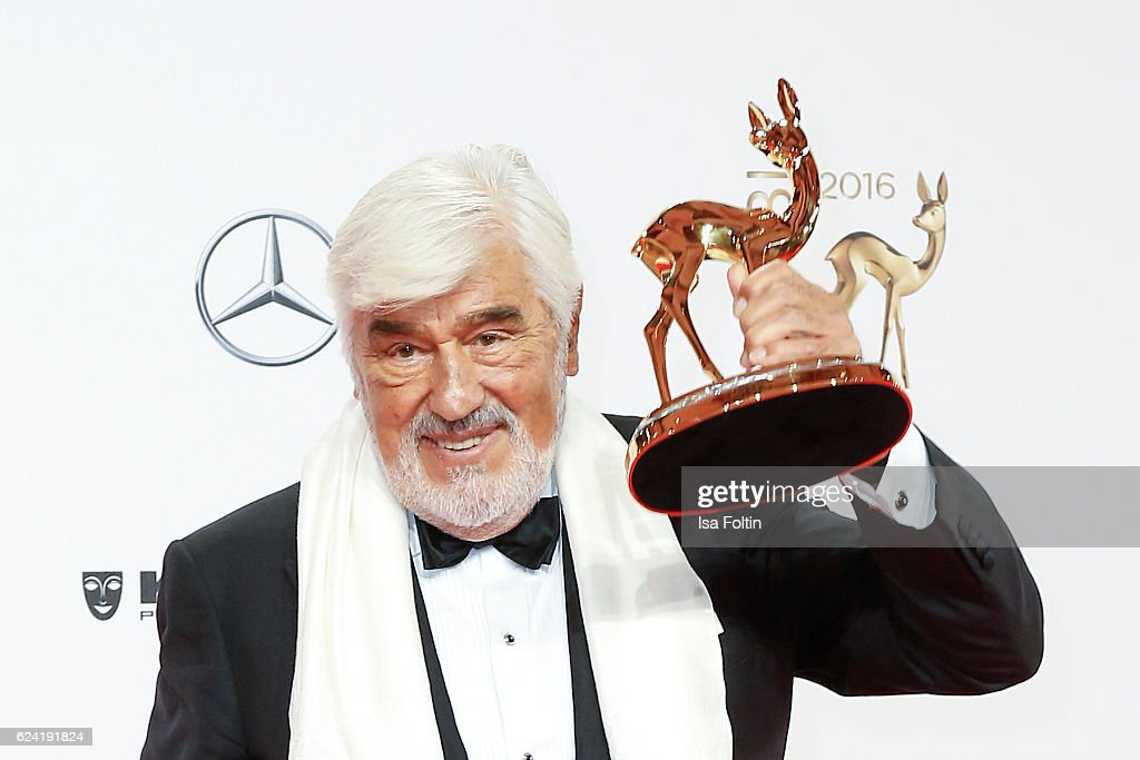 Actor and award winner Mario Adorf during the Bambi Awards 2016 at Stage Theater on November 17, 2016 in Berlin, Germany.