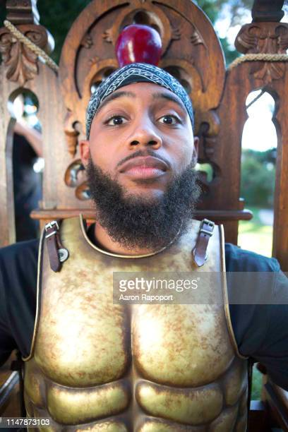 Actor and basketball star Brandon Armstrong poses for a portrait in Los Angeles California