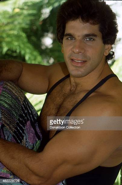 Actor and bodybuilder Lou Ferrigno poses for a portrait in 1990 in Los Angeles California
