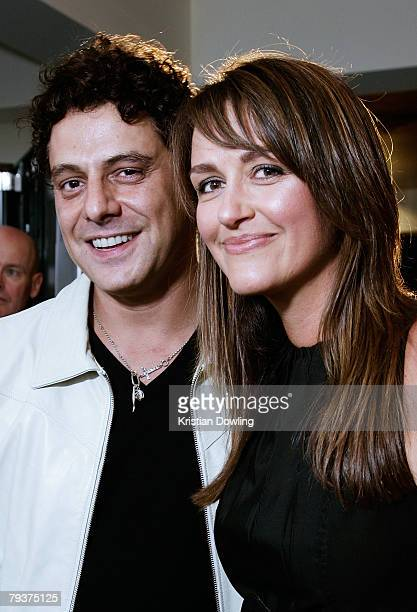 Actor and cast member Vince Colosimo and Carla McGuire attend the launch for Channel 9's new television show Underbelly at the Waterside Hotel on...