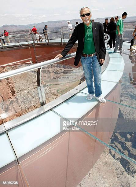 Actor and chair of the CineVegas creative advisory board Dennis Hopper poses at the Grand Canyon Skywalk June 12 2009 in Grand Canyon West Arizona...