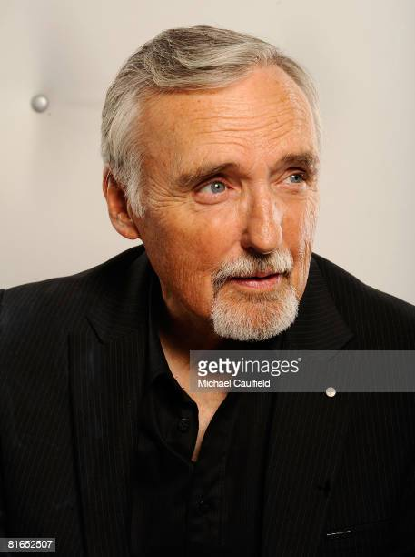 Actor and chair of the CineVegas creative advisory board Dennis Hopper poses for a portrait during the 2008 CineVegas film festival held at the Palms...