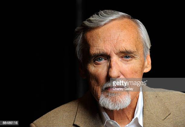 Actor and chair of the CineVegas creative advisory board Dennis Hopper poses for a portrait during the 11th annual CineVegas film festival held at...