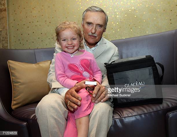 Actor and Chair of the Creative Advisory Board Dennis Hopper and his daughter Galen Grier Hopper pose with Glaceau Vitamin Water at the CineVegas...