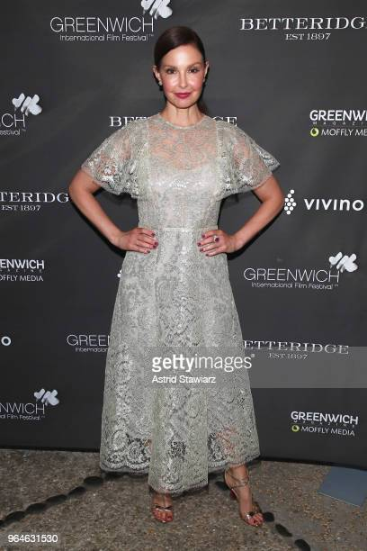 Actor and Changemaker Award recipient Ashley Judd attends the Changemaker Gala at L'Escale Restaurant during the 2018 Greenwich International Film...