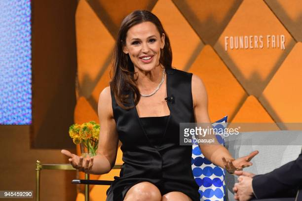 Actor and CoFounder and Chief Brand Officer of Once Upon a Farm Jennifer Garner speaks onstage during Vanity Fair's Founders Fair at Spring Studios...