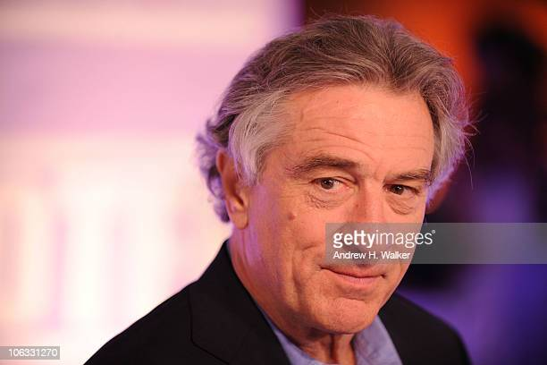 Actor and cofounder of the Tribeca Film Festival Robert De Niro arrives at the 'Stone' premiere during the 2010 Doha Tribeca Film Festival held at...