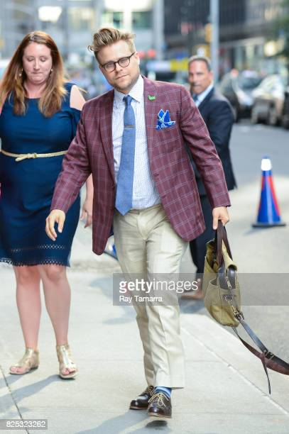 Actor and comedian Adam Conover enters the 'The Late Show With Stephen Colbert' taping at the Ed Sullivan Theater on August 01 2017 in New York City