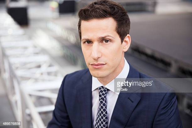 Actor and comedian Andy Samberg is photographed for Los Angeles Times on September 16 2015 in Los Angeles California PUBLISHED IMAGE CREDIT MUST READ...