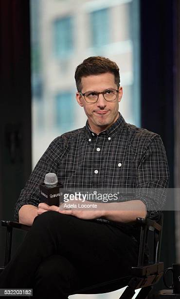 Actor and Comedian Andy Samberg of The Lonely Island dicusses 'Popstar Never Stop Never Stopping' At AOL Build at AOL on May 18 2016 in New York City