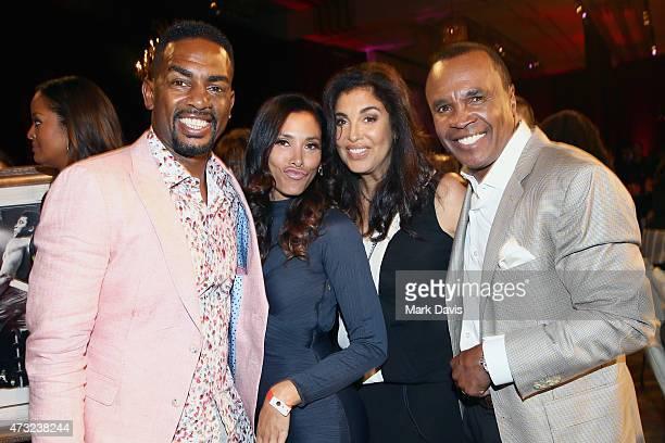 Actor and comedian Bill Bellamy Kristen Bellamy Bernadette Leonard and former boxer Sugar Ray Leonard attend B Riley Co And Sugar Ray Leonard...
