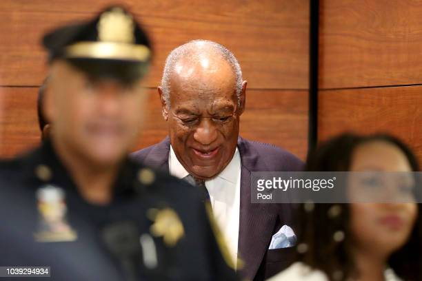Actor and Comedian Bill Cosby arrives at the Montgomery County Courthouse for sentencing in his sexual assault trial September 24 2018 in Norristown...