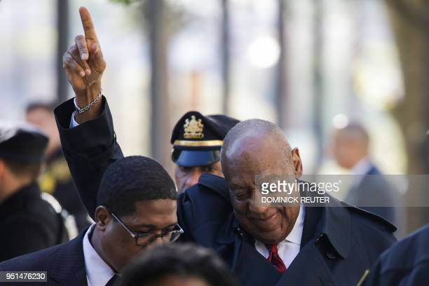 Actor and comedian Bill Cosby arrives for the second day of jury deliberations in the retrial of his sexual assault case at the Montgomery County...