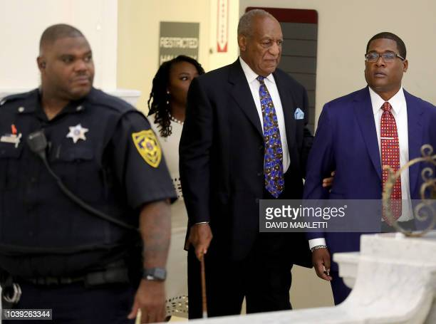 Actor and Comedian Bill Cosby arrives with his spokesman Andrew Wyatt at the Montgomery County Courthouse for sentencing in his sexual assault trial...