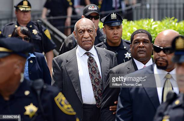 Actor and comedian Bill Cosby leaves a preliminary hearing on sexual assault charges on May 24 2016 in at Montgomery County Courthouse in Norristown...