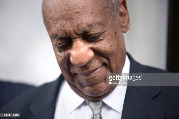 Actor and comedian Bill Cosby leaves the Montgomery County Courthouse on June 17 2017 in Norristown Pennsylvania After 52 hours of deliberation a...