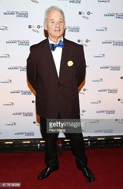 Actor and comedian Bill Murray arrives to The Kennedy Center Mark Twain Prize Honors Bill Murray event at The Kennedy Center on October 23 2016 in...