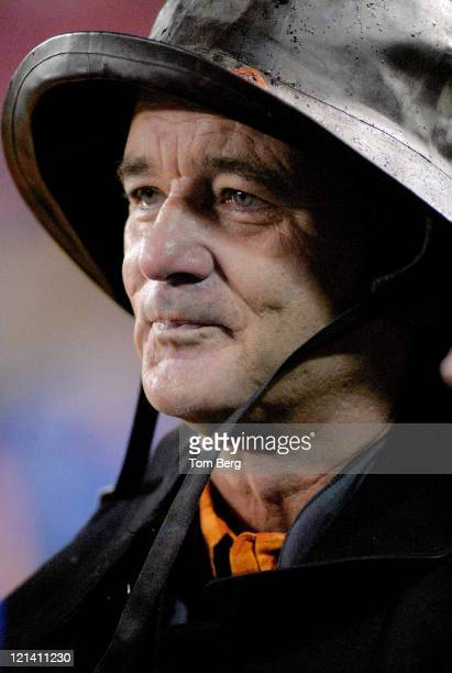 Actor and comedian Bill Murray was on the field before the start of the Chicago Bears vs New York Giants on November 12, 2006 at Giants Stadium in...