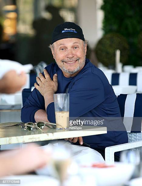 Actor and comedian Billy Crystal having lunch at the Stamford Hotel in Brisbane Queensland