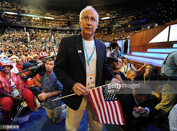 Actor and comedian Chevy Chase attends the Democratic National Convention in Denver Colorado Wednesday August 27 2008