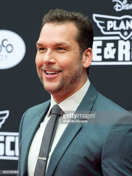 Actor and comedian Dane Cook arrives at the Los Angeles premiere of Disney's 'Planes Fire Rescue' at the El Capitan Theatre on July 15 2014 in...