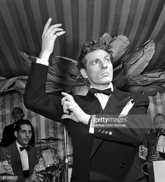 Actor and comedian Danny Kaye performs at La Martinique nightclub at 57 West 57th Street in 1941 in New york City New York