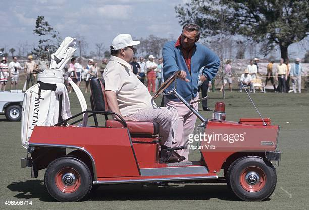 Actor and comedian Jackie Gleason and golfer Arnold Palmer during Jackie Gleason's Inverrary Classic golf tournament in Lauderhill, Florida.