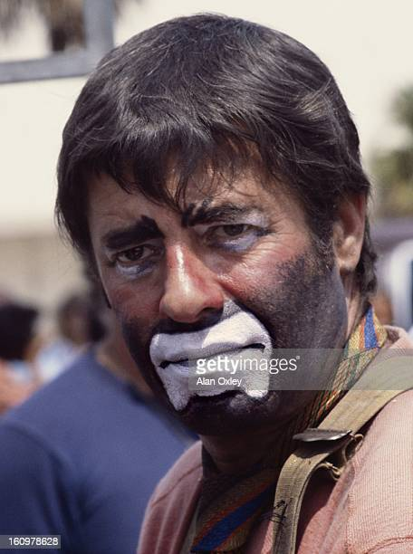 Actor and comedian Jerry Lewis in clown costume on the set of 'Hardly Working' in West Palm Beach Florida in March 1979 Lewis directed and starred in...