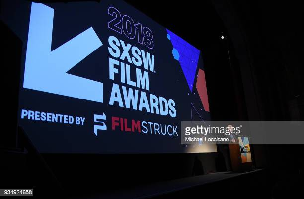 Actor and comedian Jim Gaffigan hosts the SXSW Film Awards show during the 2018 SXSW Conference and Festivals at Paramount Theatre on March 13 2018...