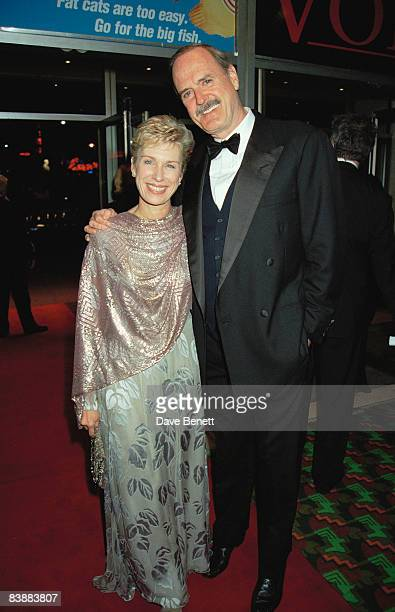 Actor and comedian John Cleese with his wife Alyce Faye Eichelberger at the London premiere of 'Wilde' held at the Odeon Leicester Square 16th...