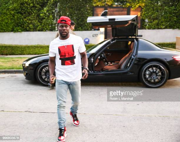 Actor and Comedian Kevin Hart arrives at Ashley North's Launch of 'AN STYLE' Candles at IceLink Boutique and Rooftop Lounge on July 11 2018 in West...