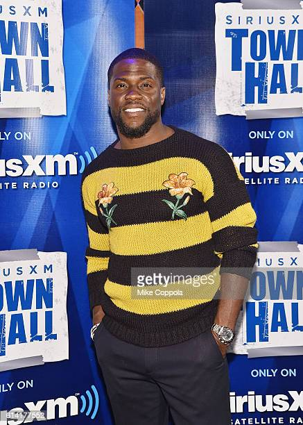 Actor and Comedian Kevin Hart is interviewed by Kenan Thompson for SiriusXM's 'Town Hall' series on October 12 2016 in New York City