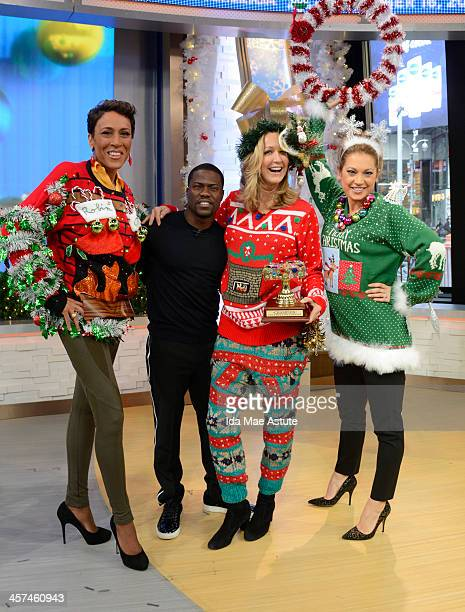 AMERICA Actor and comedian Kevin Hart judges the 'Ugly Sweater' Contest on GOOD MORNING AMERICA 12/16/13 airing on the ABC Television Network ROBIN