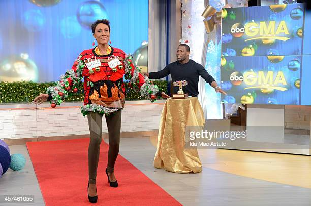 AMERICA Actor and comedian Kevin Hart judges the Ugly Sweater Contest on GOOD MORNING AMERICA 12/16/13 airing on the ABC Television Network ROBIN