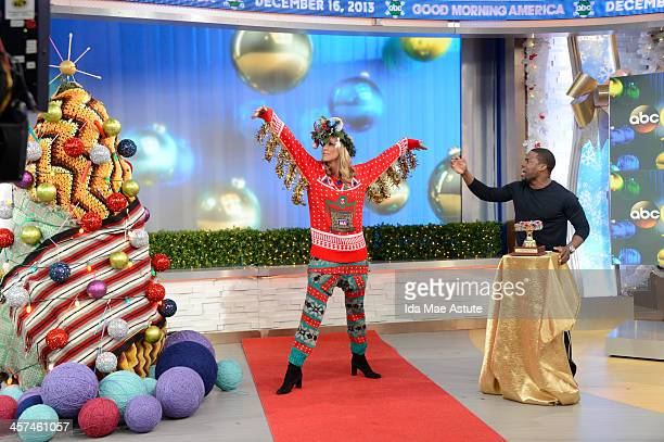 AMERICA Actor and comedian Kevin Hart judges the Ugly Sweater Contest on GOOD MORNING AMERICA 12/16/13 airing on the ABC Television Network LARA