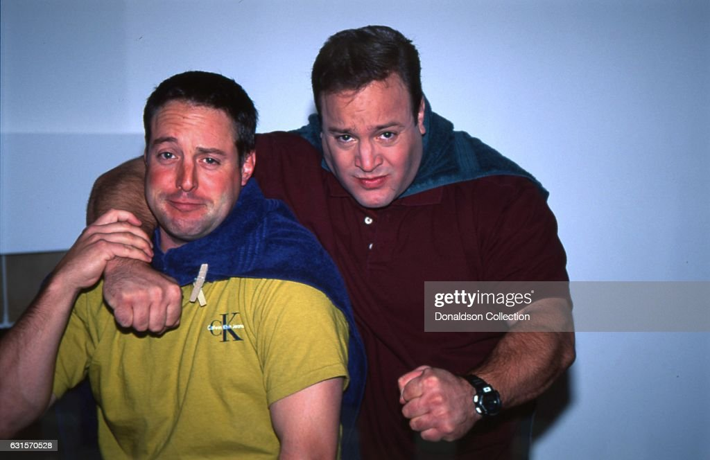 Schön Actor And Comedian Kevin James Poses For A Portrait Session With His Older Brother  Gary Valentine