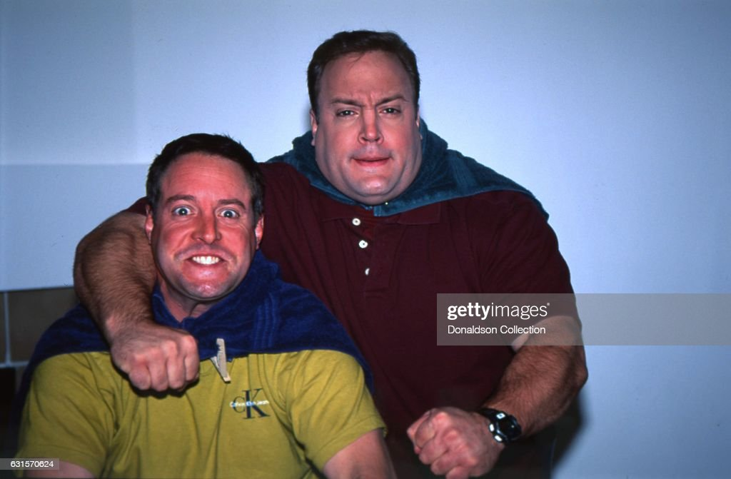 Actor And Comedian Kevin James Poses For A Portrait Session With His Older Brother  Gary Valentine