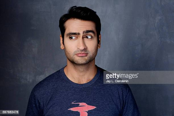 Actor and comedian Kumail Nanjiani of 'Silicon Valley' is photographed for Los Angeles Times at San Diego Comic Con on July 22 2016 in San Diego...