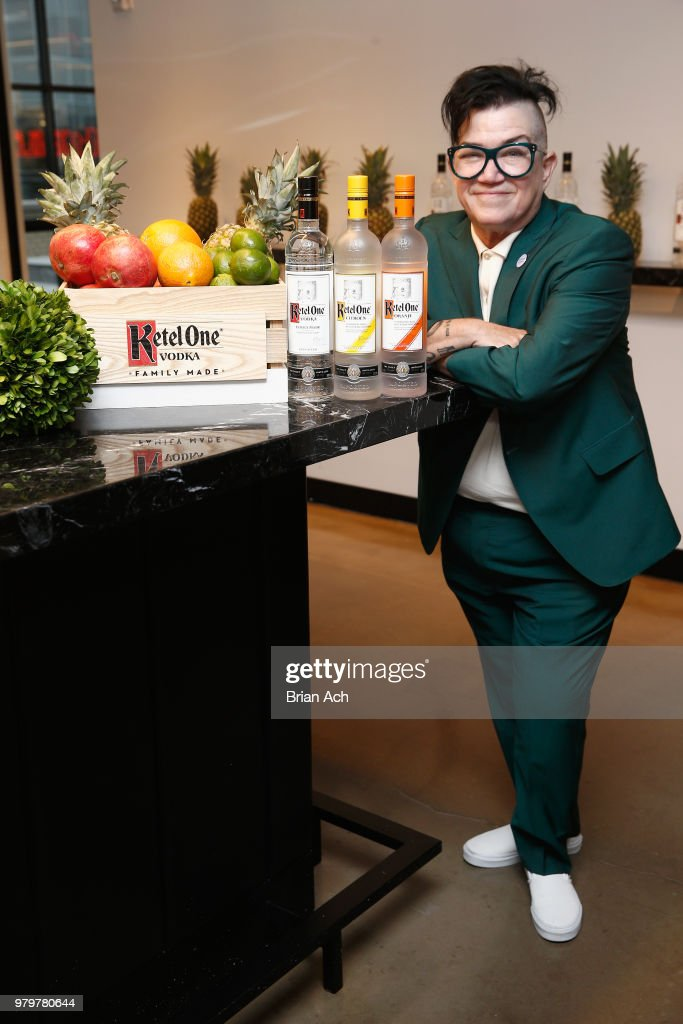 Actor and comedian Lea DeLaria celebrates at PRIDE PLACE in partnership with LGBTQ ally and Ketel One Family-Made Vodka on June 20, 2018 at Samsung 837 in New York City.
