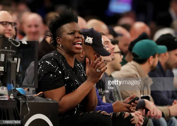 Actor and comedian Leslie Jones attends the game between the New York Knicks and the Phoenix Suns at Madison Square Garden on January 16, 2020 in New...