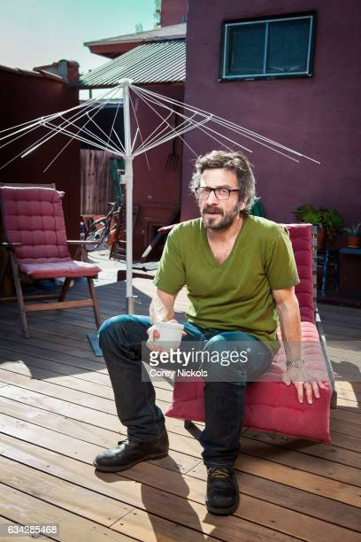 Actor and comedian Marc Maron is photographed for Emmy Magazine on February 10 2012 in Los Angeles California