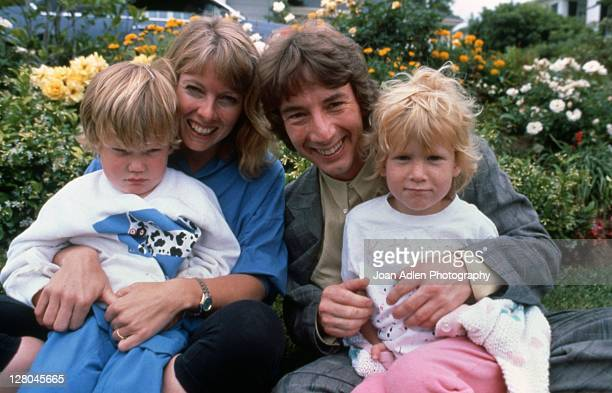 Actor and comedian Martin Short poses with wife Nancy Dolan and kids Katherine Elizabeth and Oliver Patrick for a portrait in 1989 in Los Angeles...