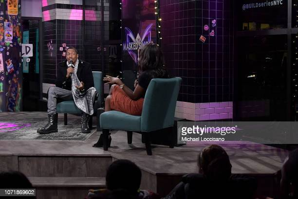 Actor and comedian Nick Cannon visits Build to discuss the reality TV show The Masked Singer at Build Studio on December 11 2018 in New York City