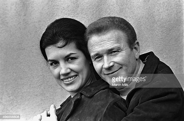 Actor and comedian Red Buttons with his wife Alicia Prats pose for a portrait circa 1968 in Los Angeles California