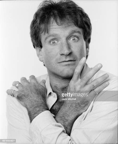 Actor and comedian Robin Williams photographed in April 1984.