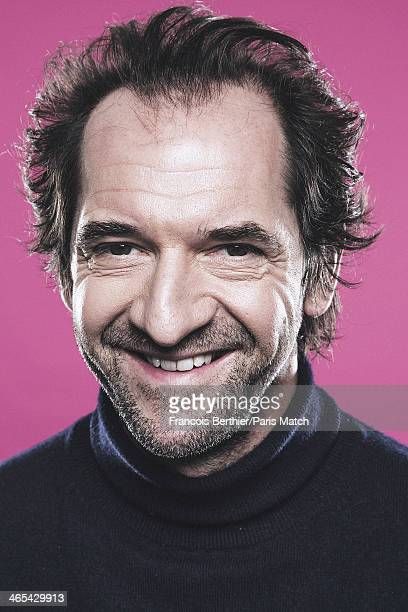 Actor and comedian Stephane De Groodt is photogrpahed for Paris Match on January 14, 2014 in Paris, France.