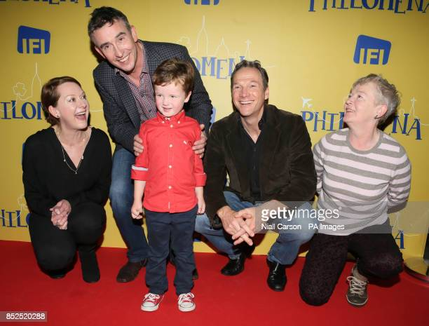 Actor and comedian Steve Coogan joins Cathy Belton Tadhg Bowen aged 5 Sean Mahon and Ruth McCabe at the screening of the film Philomena at the Irish...