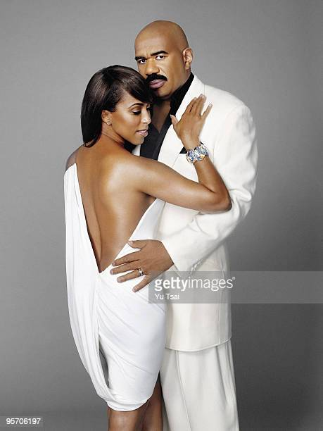 Actor and comedian Steve Harvey is photographed with his wife Marjorie in his home in Atlanta GA for Essence Magazine PUBLISHED IMAGE