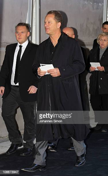 Actor and comedian Tom Gerhardt attends the memorial service for Bernd Eichinger at the St Michael Kirche on February 07 2011 in Munich Germany...