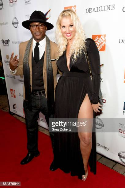 Actor and Comedian Tommy Davidson and his wife Amanda Moore attend the 8th Annual AAFCA Awards at the Taglyan Complex on February 8 2017 in Los...